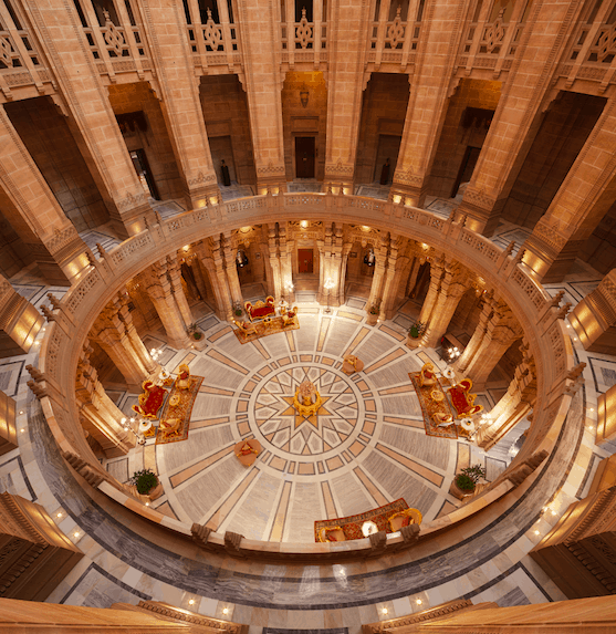 Umaid Bhawan Palace Taj Jodhpur grand hallway best hotels in India