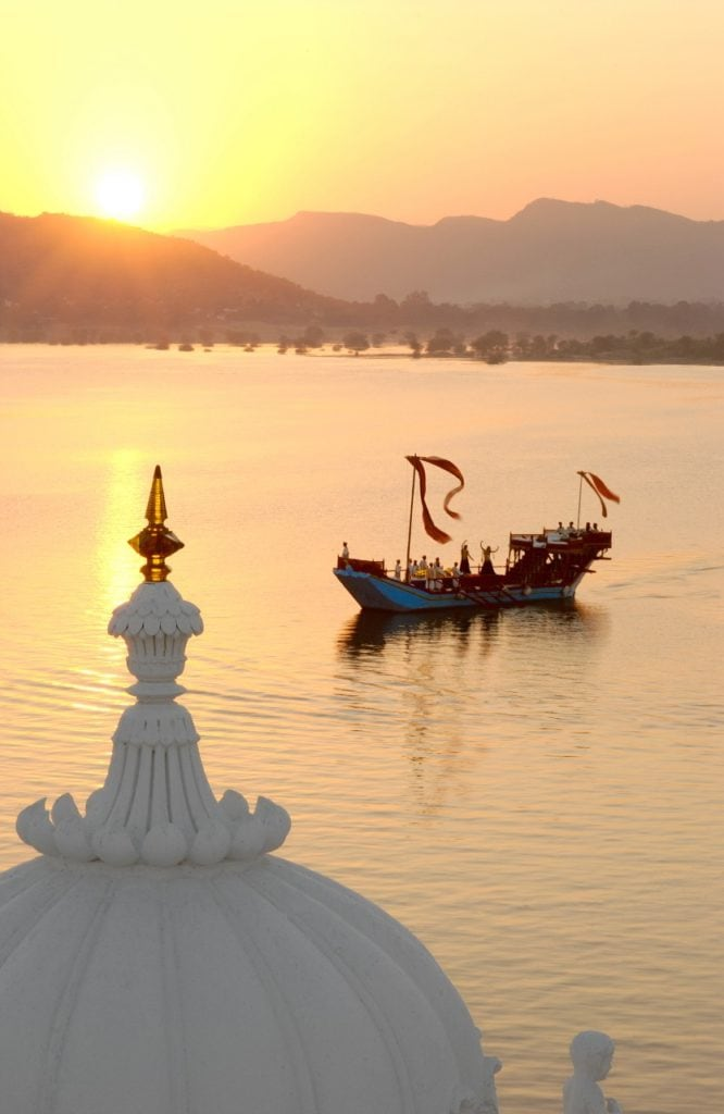 Taj Lake Palace Hotel, Udaipur Bonnie Rakhit marble swimming pool Bonnie Rakhit where to stay India luxury sunset boat lake cruise