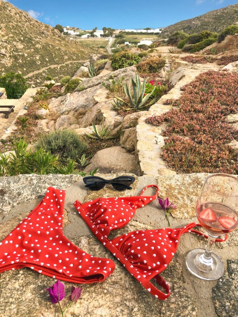 Best swimwear trends summer 2019 polka dot bikini Style Traveller Luxsea Mykonos brazilian