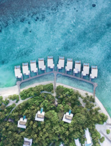 Aerial View Lagoon & Tree Houses Aerial view Amilla fushi best maldives resorts Leo di Caprio