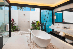Cool tropical outdoor bathrooms Westin maldives