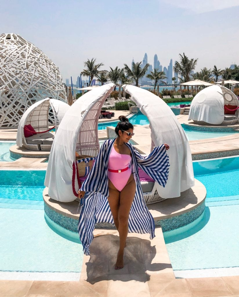 The Amazing New W Dubai The palm Hotel, Bonnie Rakhit Style Traveller swimming pool pods