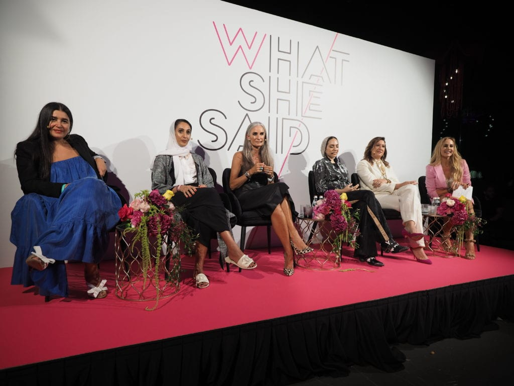 what she said event W Dubai palm womens empowerment