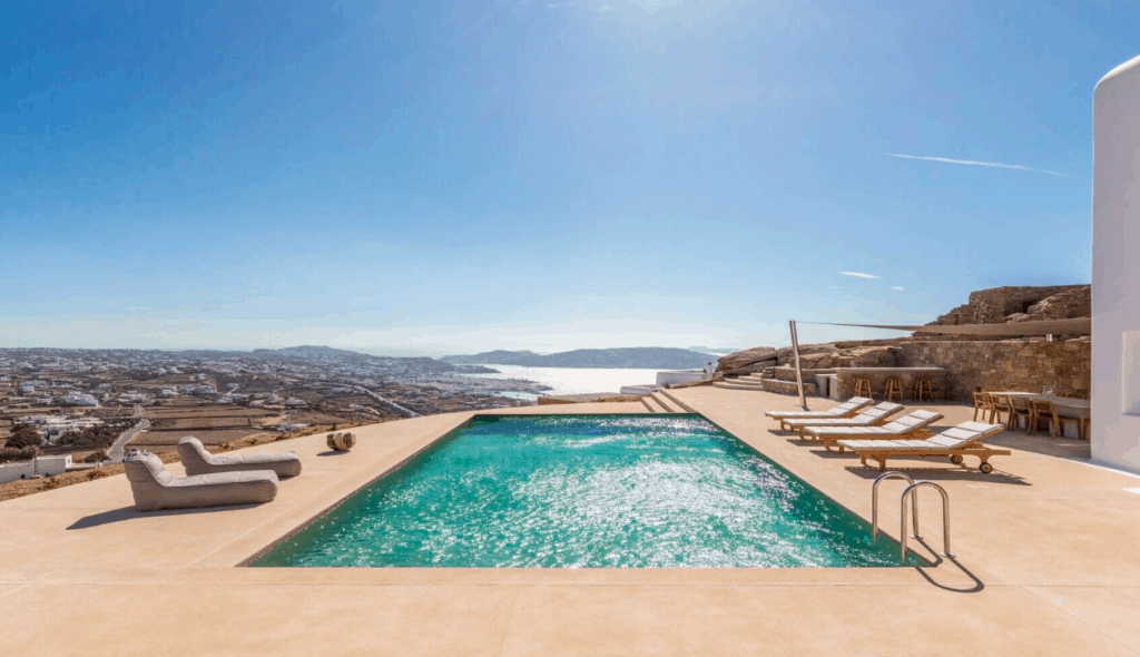 Villa Alaia Kinglike best exclusive luxury villas in Mykonos amazing swimming pools