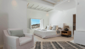 Villa Alaia Kinglike best exclusive luxury villas in Mykonos bedroom