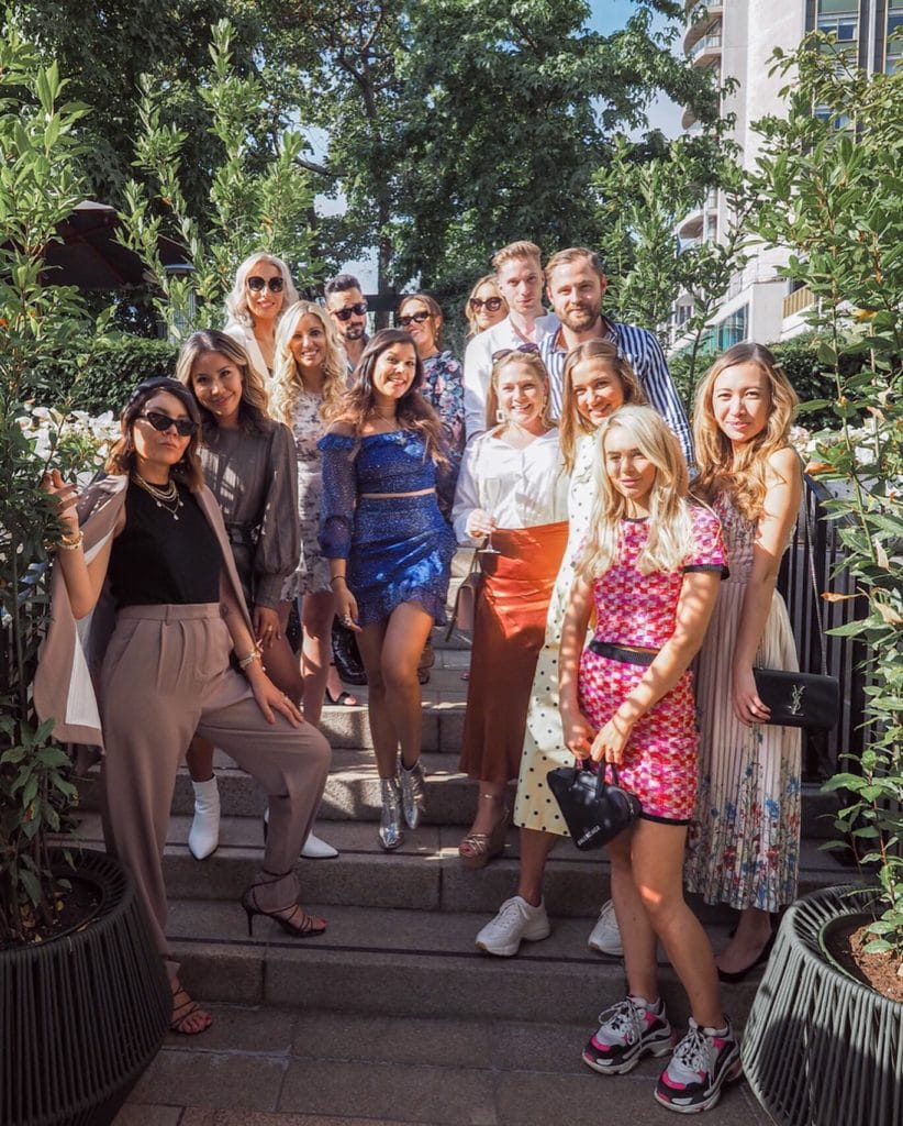 Four Seasons London X Bonnie Rakhit Fashion Week Afternoon Tea Lorna Luxe, Maja Malnar, gentleman ben, Carl Thompson , Miss Gunner, Angie silverspoon, Lauren Black