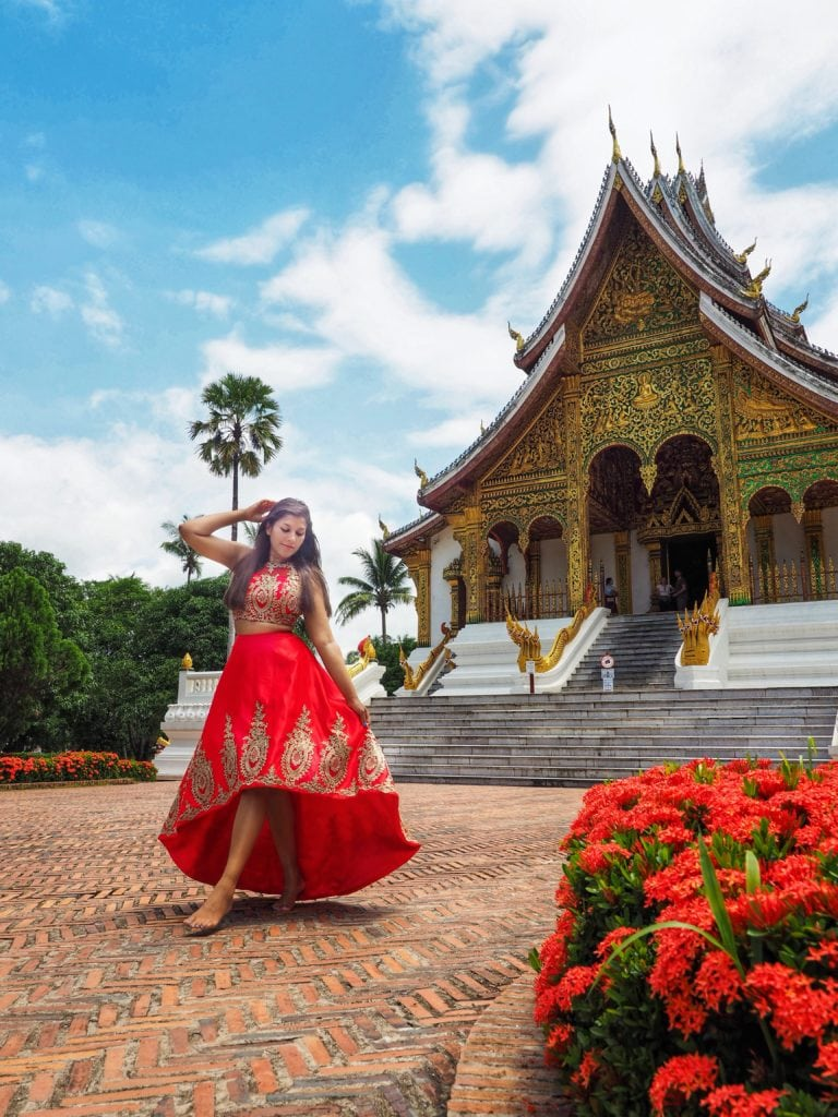 Bonnie Rakhit style traveller luang prabang temple and royal palace Laos insta