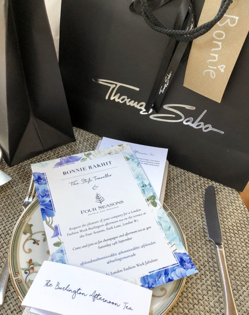 Four Seasons London X Bonnie Rakhit Fashion Week Afternoon Tea Thomas Sabo