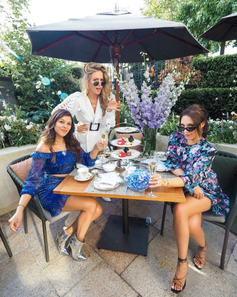 Four Seasons London X Bonnie Rakhit Fashion Week Afternoon Tea Lorna Luxe and Maja Malnar