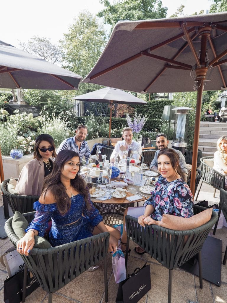 Four Seasons London X Bonnie Rakhit Fashion Week Afternoon Tea Lorna Luxe, Maja Malnar, gentleman ben, Carl Thompson