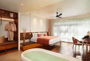 Avani FCC Angkor wat suites and bedroom cambodian interior