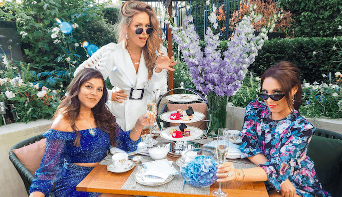 Four Seasons X Bonnie Rakhit LondonFashion Week Afternoon Tea Maja Malnar, Lorna Luxe