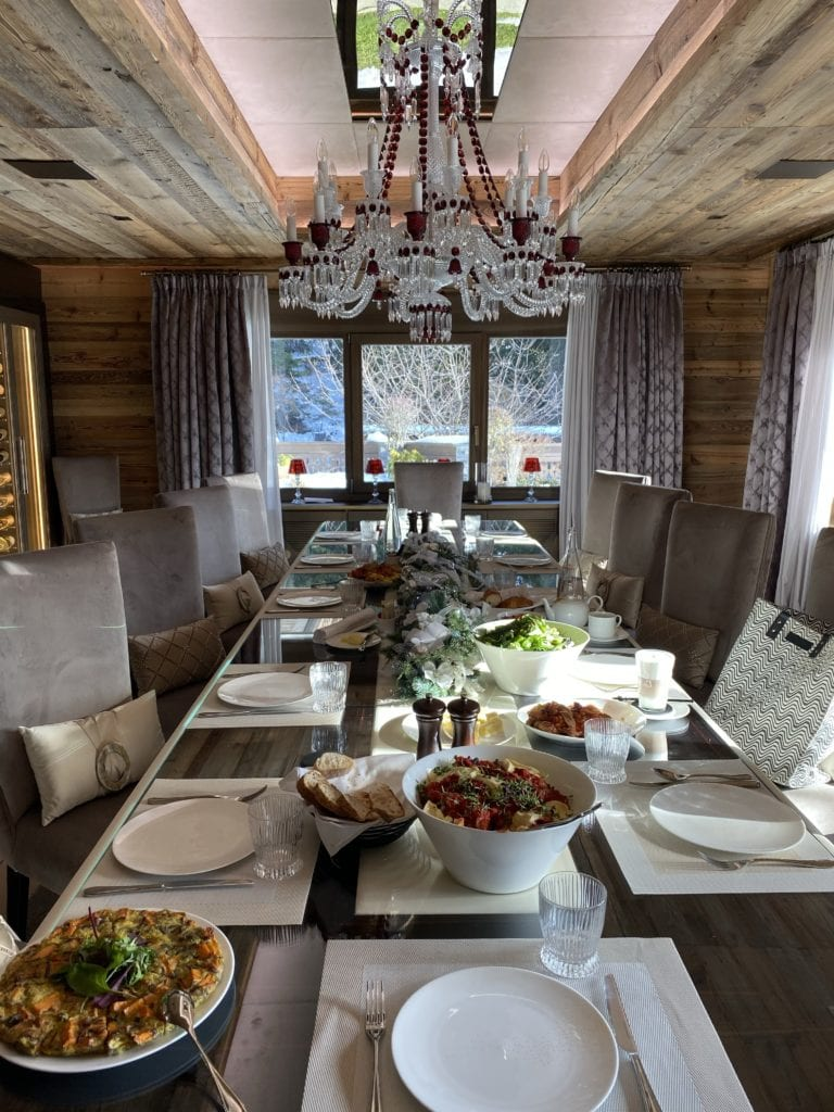 The Ultimate Luxury Ski Chalet - Ultima Crans Montana, Switzerland Bonnie Rakhit .dining alpine swiss cuisine