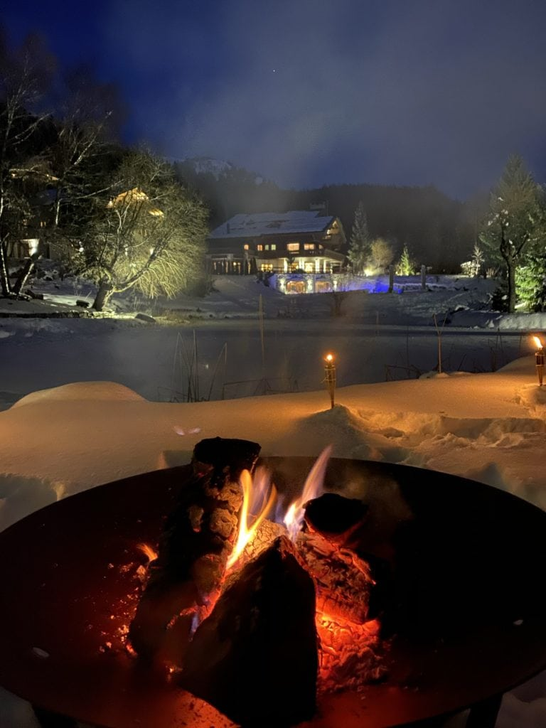 The Ultimate Luxury Ski Chalet - Ultima Crans Montana, Switzerland Bonnie Rakhit .snow bomfire pit picnic