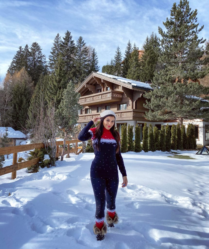 The Ultimate Luxury Ski Chalet - Ultima Crans Montana, Switzerland Bonnie Rakhit sweaty betty base layers
