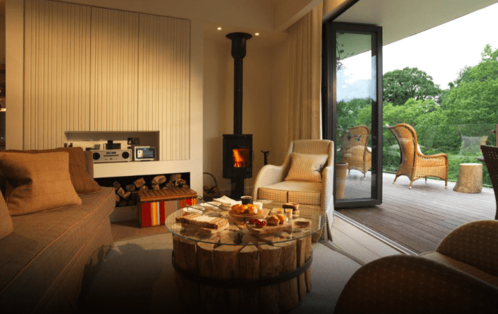 Chewton Glen interiors tree top house