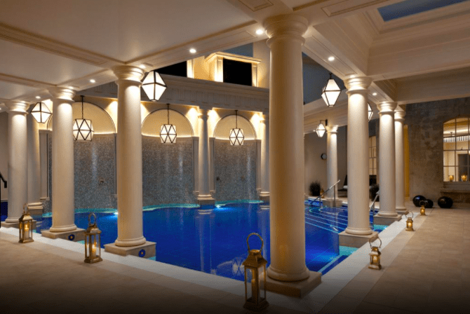 Gainsborough spa bath facade best spas bath uk indoor swimming pool