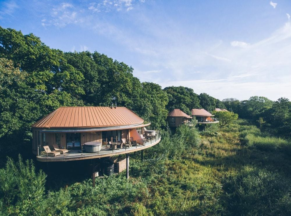 Chewton glen tree houses best spa breaks in Uk England