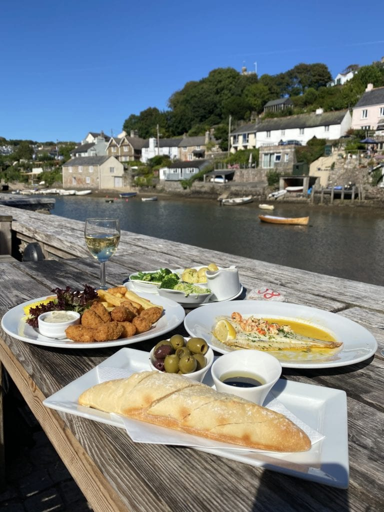The Ship Inn in Devon Noss Mayo fish and chips
