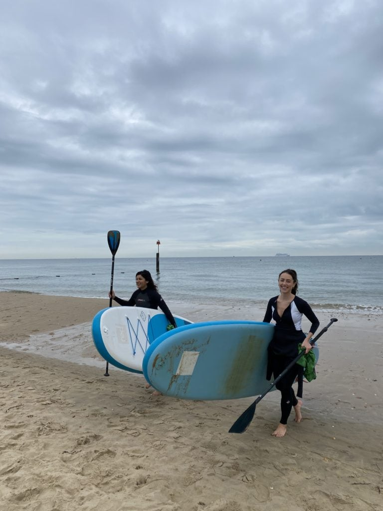 girls Sup paddle board surf Bournemouth sorted school uk