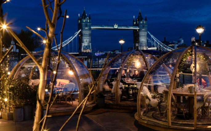 40 Best Outdoor Bars, Rooftops and Igloos in London coppa club