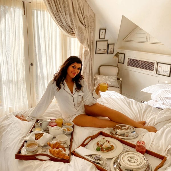 Bonnie Rakhit at Dormy House best spa hotels breakfast in bed