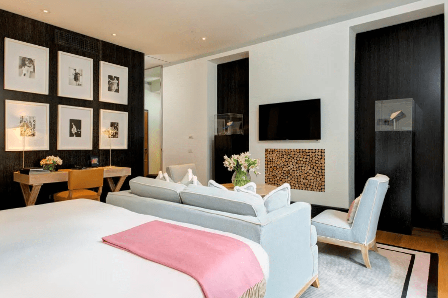 Each bedroom at Portrait Roma is individually designed with unique art works for each suite