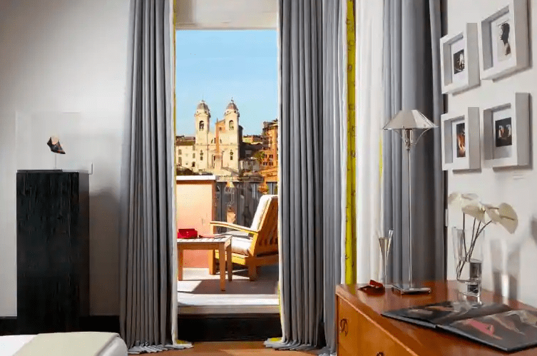 stunning views from the terraces at Portrait Roma - where to stay in Rome