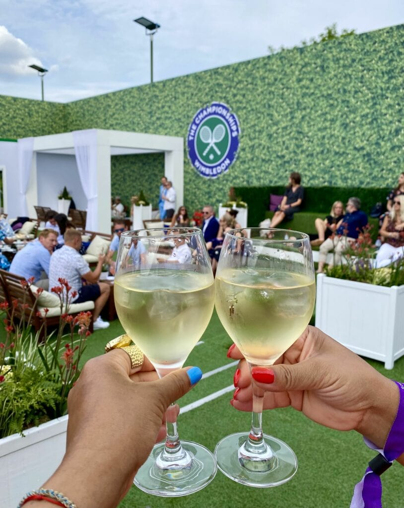Wimbledon VIP Bonnie Rakhit Keith Prowse hospitality The Lawn VIP experience