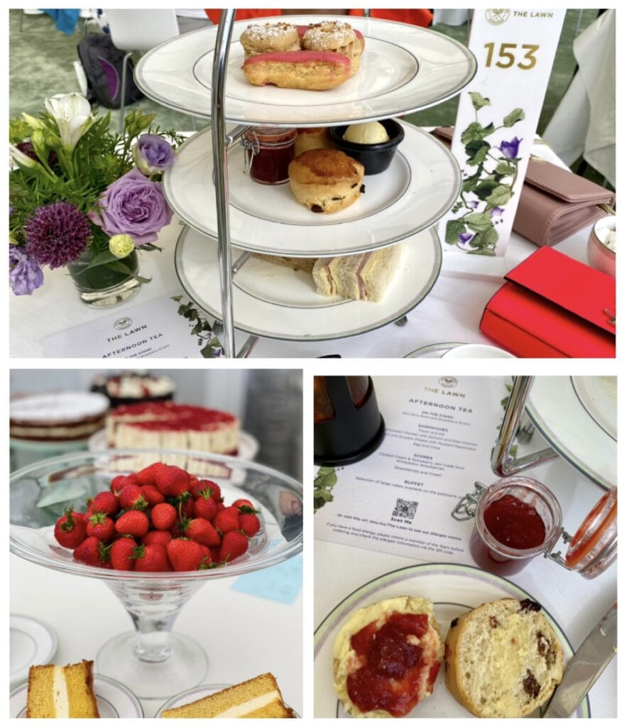 Wimbledon VIP Bonnie Rakhit Keith Prowse hospitality The Lawn afternoon tea vip experience