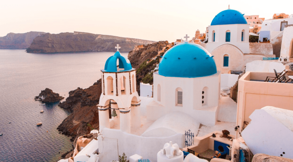 Blue domes of Oia Santorini travel guide best insta locations
